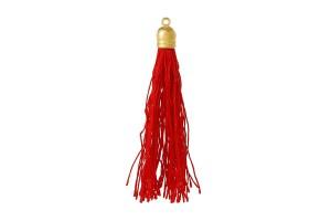 Raudonas kutas su kepurėle 9.2x1 cm.