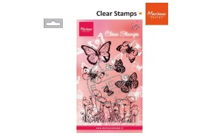 Clear stamp butterfly