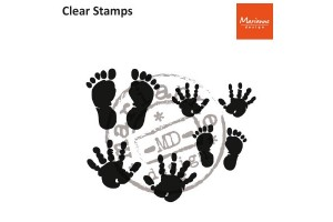 Clear stamp hands and feet.