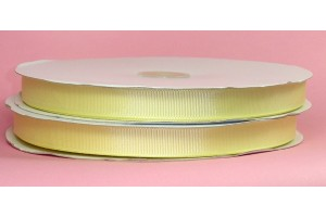 "Kūdikio geltona  juostelė, ""grosgrain"", 9 mm., 1 metras, 00852"