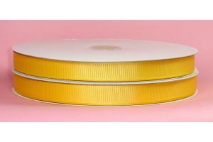 """Geltonai auksinė  juostelė, """"grosgrain"""", 9 mm., 1 metras, 00852"""