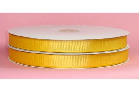 "Yellow baby ribbon ""grosgrain"", 9 mm., 1 metre,  00852"