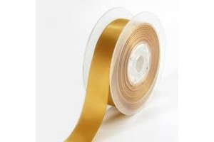 Sattin ribbon 16 mm. old gold