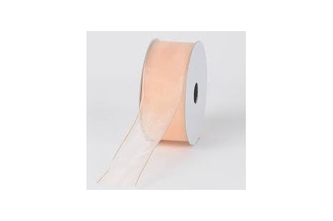 Organza juostelė 10 mm. oranžinė 1 metras.