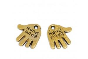"""Pakabukas ranka """"hand made""""  12x11 mm., aukso spalvos"""