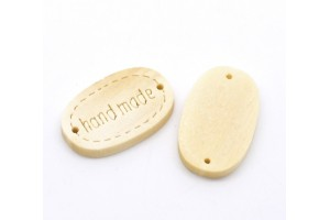 Oval wood bead 1 pcs.