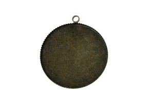 Pendant oval antique bronze 35 mm.