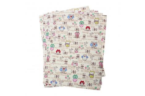Lipdukas tekstilė pelėdų motyvai 30x21 cm.