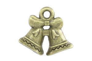 Pendant bronze color bowknot 16x14 mm.