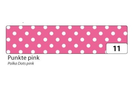 """Lipni juostelė """"washi tape"""" rožinė su taškeliais"""