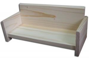 Dekoratyvinė lovytė 28x12x10 cm.