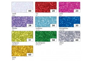 "Dekoratyvinė guma ""crepla"" rankdarbiams lipdukas blizgi violetinė 20x29 cm. 5 vnt."