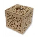 Dėžutė servetėlėms stačiakampė ažuriniai šonai 25x13x10,5 cm. RD62-3
