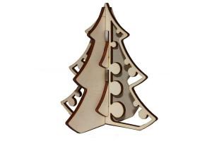 Medinė dekoracija Eglutė surenkama 10x10x10 cm. Gift62