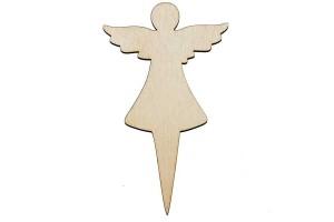Medinė dekoracija ant kotelio Angeliukas 5,5x10 cm. Gift34