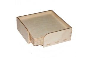 Dėžutė su padėkliukais 6vnt. 11x11x4 cm. RD70