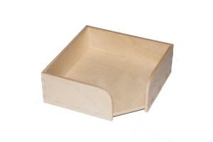 Dėžutė padėkliukams 11x11x4 cm. RD71