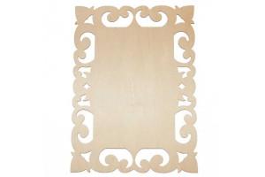 Medinė lentelė dekoravimui stačiakampė 27,5x21 cm. RD23-2
