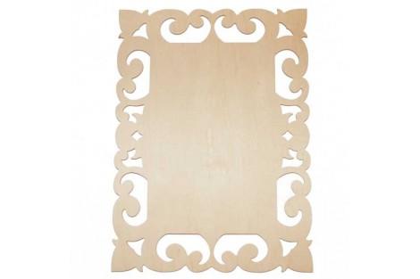 Medinė lentelė dekoravimui stačiakampė 27,5x21 cm. RD23-1