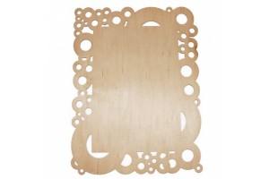 Medinė lentelė dekoravimui stačiakampė 27,5x21 cm. RD23-10