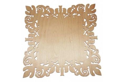Medinė lentelė dekoravimui stačiakampė 27,5x21 cm. RD23-13