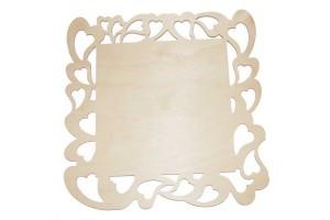 Medinė lentelė dekoravimui kvadratinė 25x25 cm. RD24-11