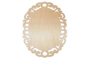 Medinė lentelė dekoravimui ovali 27,5x21 cm. RD25-4