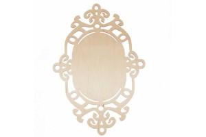Medinė lentelė dekoravimui ovali 30,5x21 cm. RD25-10