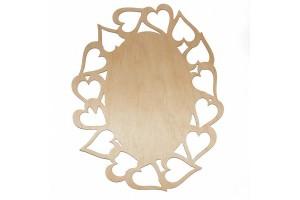 Medinė lentelė dekoravimui ovali 27,5x21 cm. RD25-14
