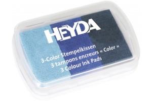 Rašalinės kempinėlės antspaudukams trys spalvos