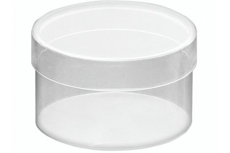 Plastikinė dėžutė 8.5x5 cm.