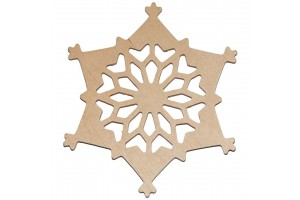 Snowflake decoration 10 cm. RD18-4