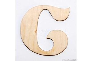 Medinė raidė C (5 cm)