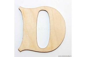 Medinė raidė D (5 cm)