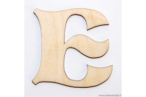 Medinė raidė E (5 cm)