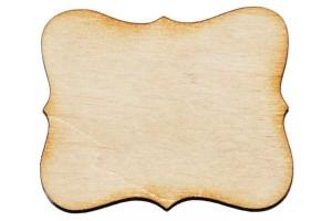 Medinė dekoracija lentelė 5x4 cm. Gift18A