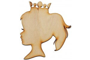 Medinė dekoracija princesė 8x9 cm. Gift21