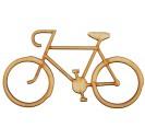 Medinė dekoracija dviratis 16x9 cm. Gift22