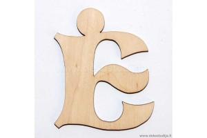 Medinė raidė Ė (5 cm)