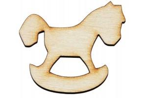 Medinė dekoracija arkliukas 4x3,5 cm. Gift27C