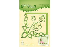 Die flower roses and embossing die