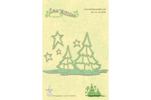 Die christmas tree and embossing die
