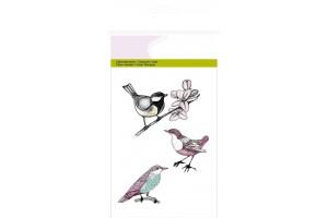 Silikoninis spaudas paukščiukai