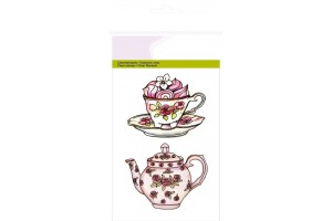 Craft clear stamp tea cup