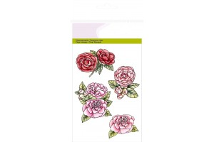 Craft clear stamp roses