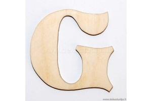 Medinė raidė G (5 cm)