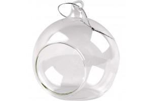 Stiklinis burbulas su skyle 8 cm.