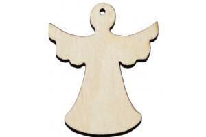 Medinė dekoracija angelas 2,5x3 cm. Gift30A