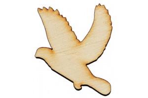 Medinė dekoracija paukštis 4x5 cm. Gift31A