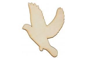 Medinė dekoracija paukštis 9x12 cm. Gift31B